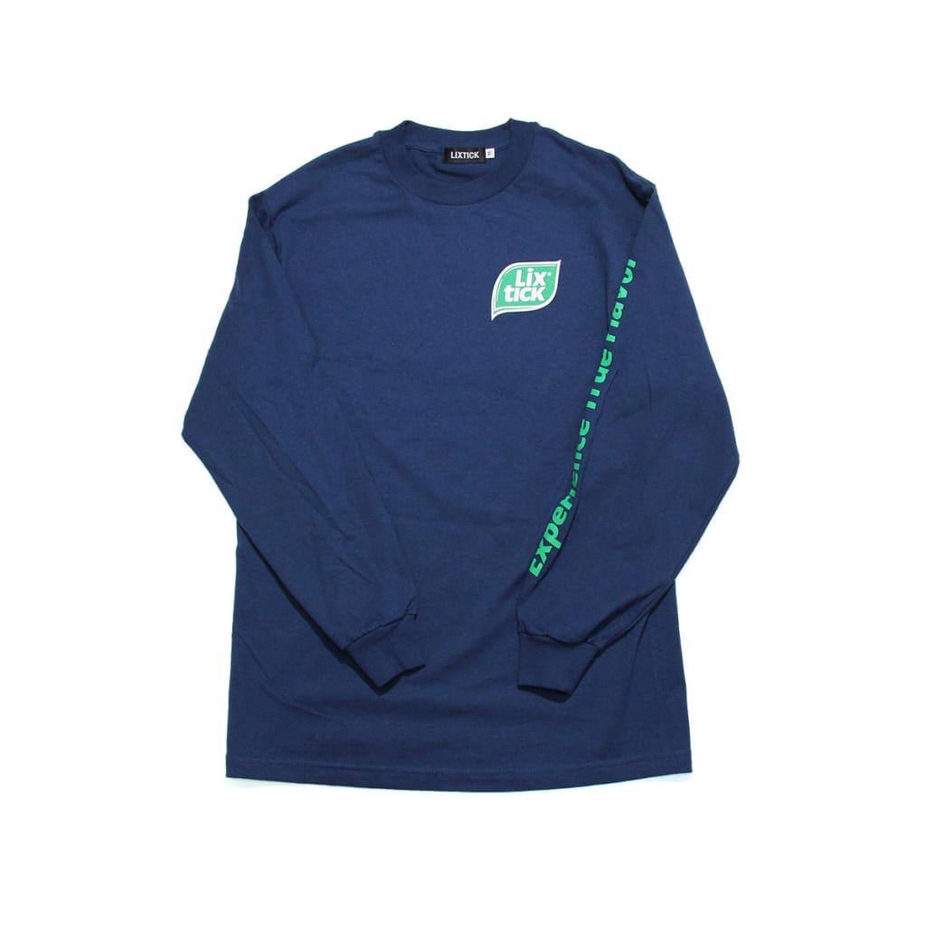 """LIXTICK """"E.T.F"""" Long Sleeve T-SHIRT (H.BLUE)"""